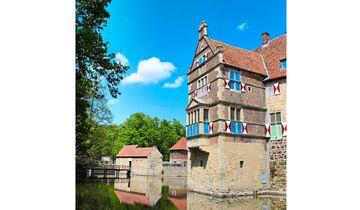 Burg Vischering wurde nach einem Brand im Stil der Renaissance neu aufgebaut.