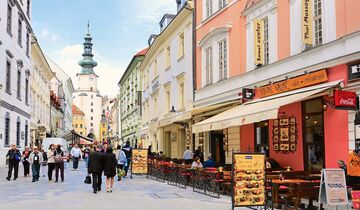 Cafés und Restaurants in Bratislavas Altstadt