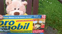 CampBär mit promobil-Zeitschrift