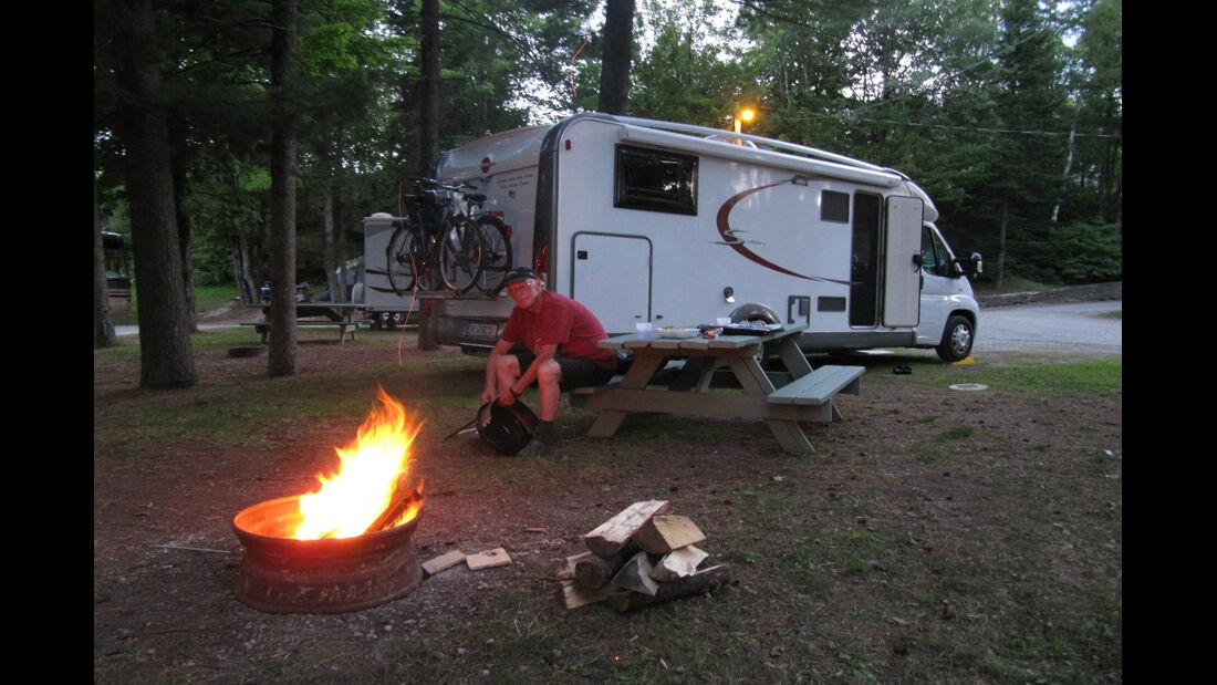 Campfire in New Brunswick