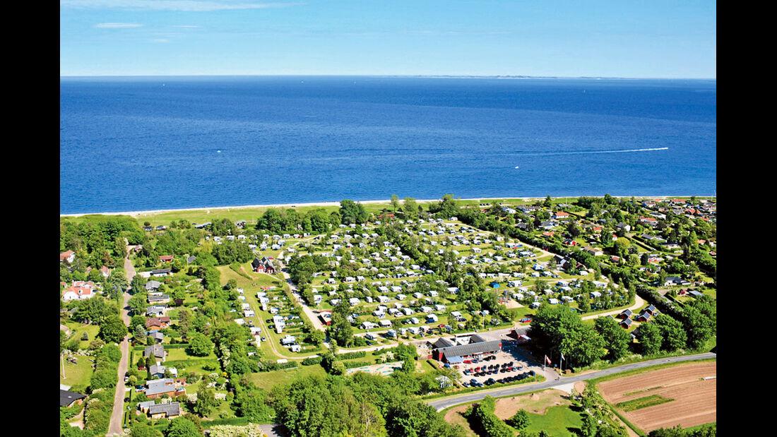 Camping Cheque: Ajstrup Strand Camping, Stellplatz
