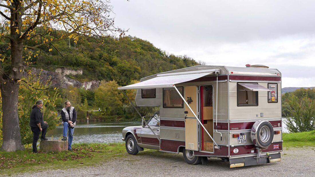 Camping Oldtimer Peugeot 504