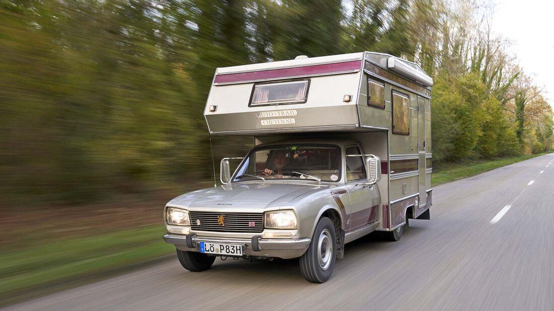 Camping Oldtimer Peugeot 505