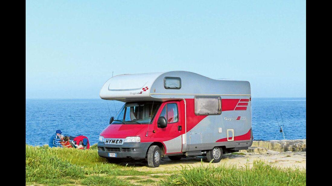Camping Santo Stefano direkt am Meer.