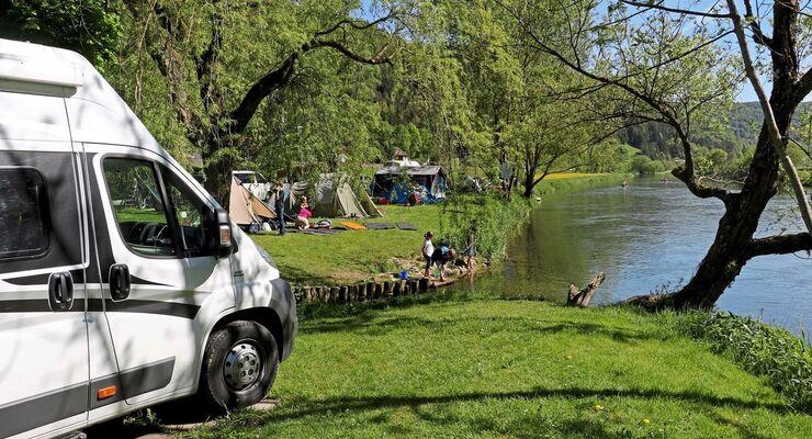 Camping Wagenburg in Hausen an der Donau