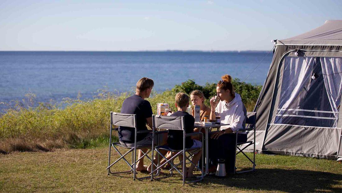 Camping in Dänemarks Natur