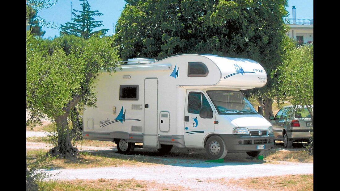 Campingplatz Area Sosta in Alberobello