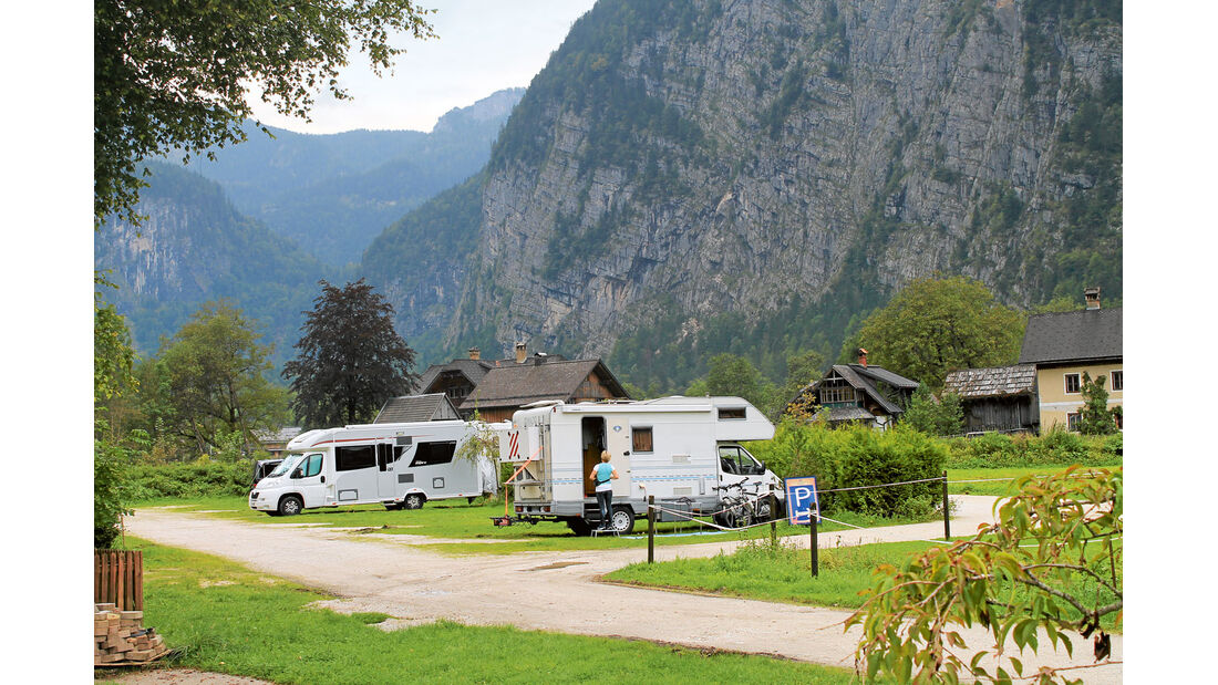 Campingplatz Klausner-Höll in Hallstatt ein.