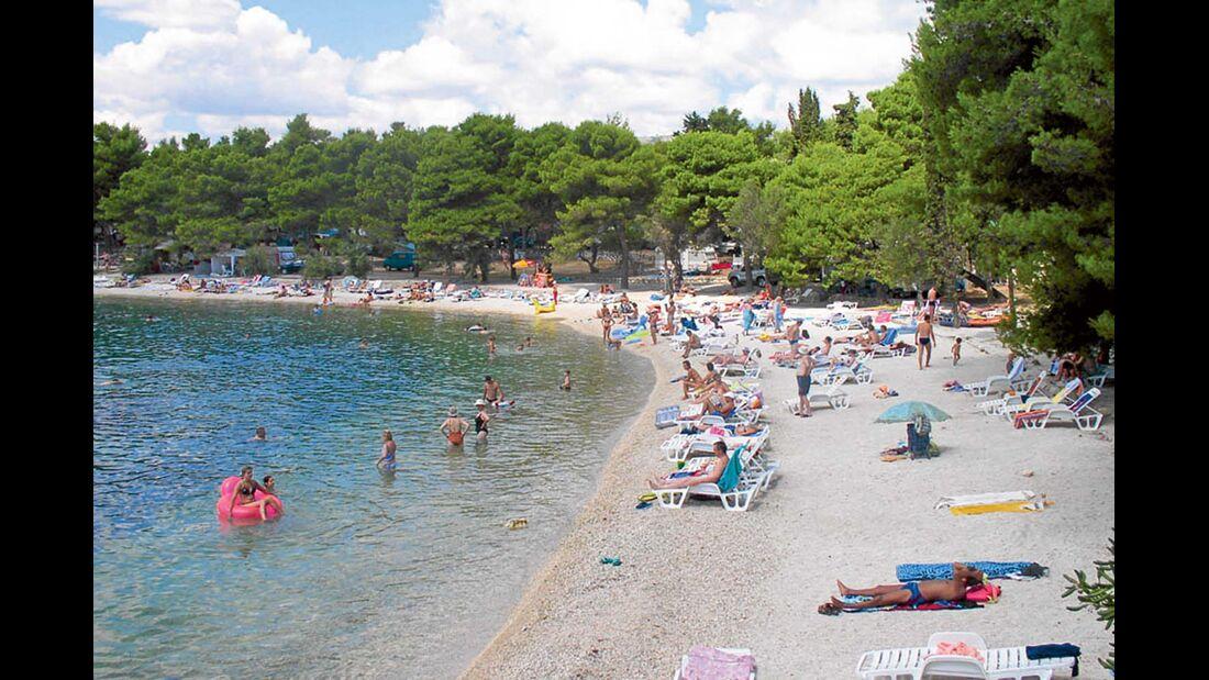 Campingplatz Rožac in Dalmatien