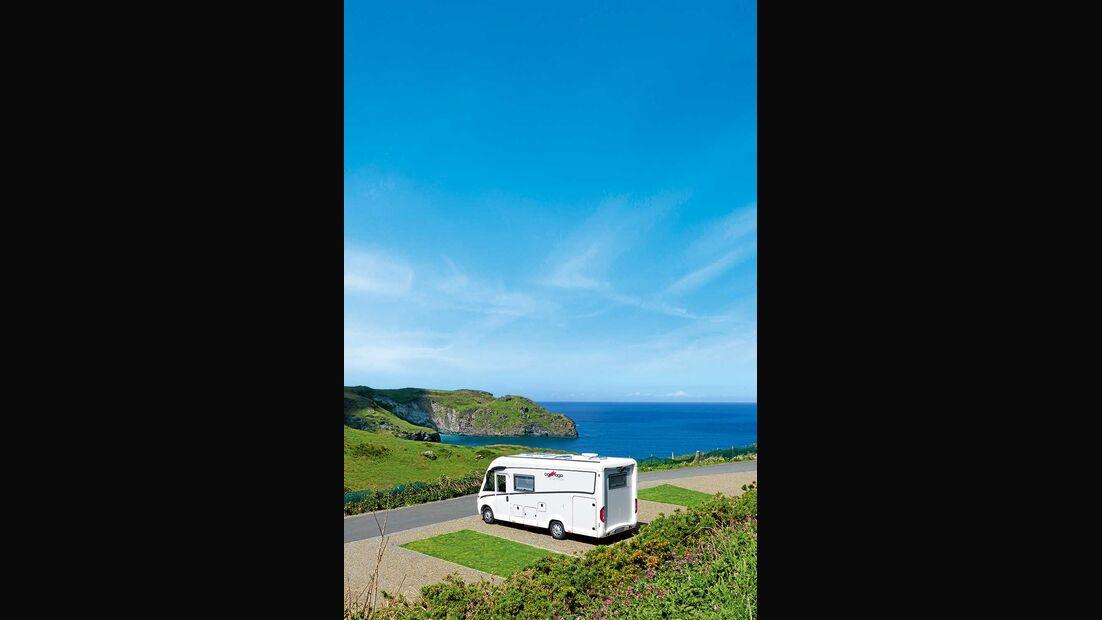 Campingplatz Trewethett Farm Caravan Club Site Boscastle England