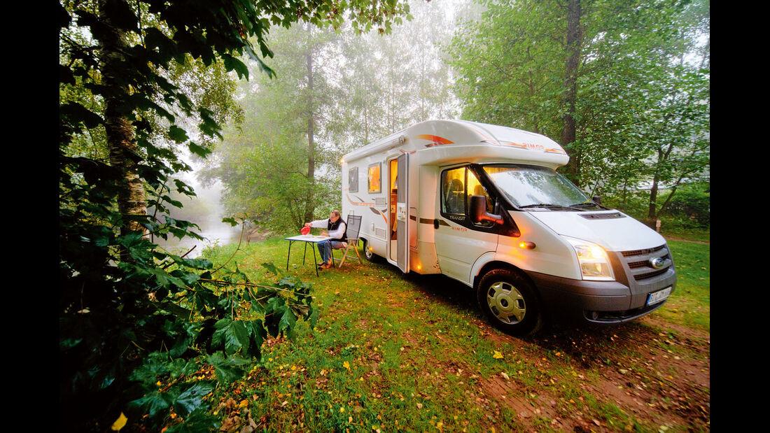 Campingplatz bei Waxweiler an der Prüm.