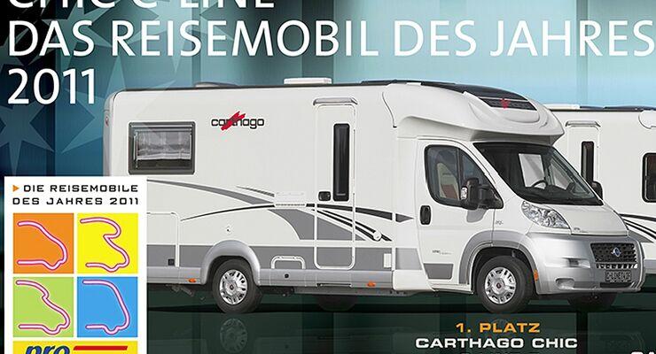 Caravan Salon-Besucher können die Betten im Carthago c-tourer testen und  damit an einem Gewinnspiel teilnehmen