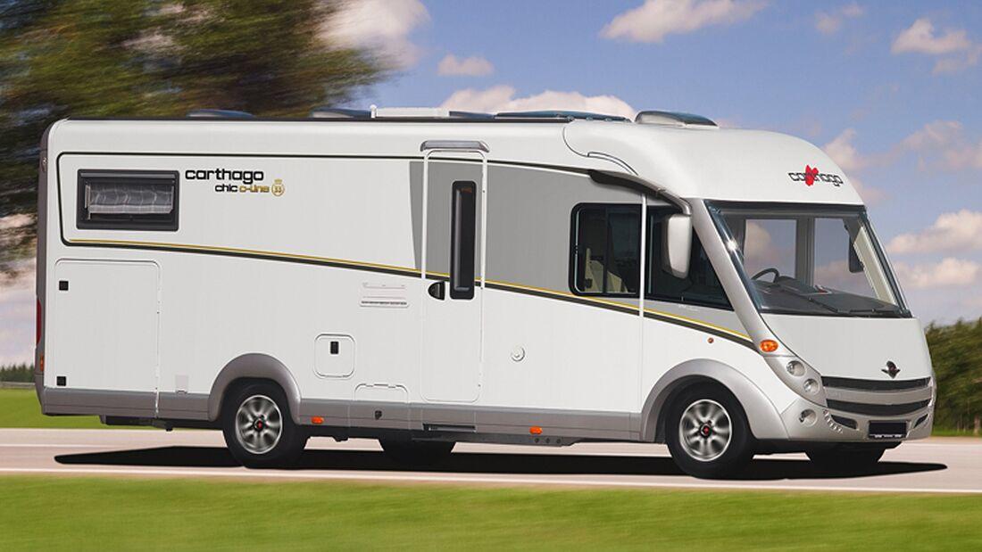Carthago legt zum 33-jährigen Firmenjubiläum zwei Jubilee-Editionsmodelle auf: den chic c-line l 33 und den c-tourer l 33.