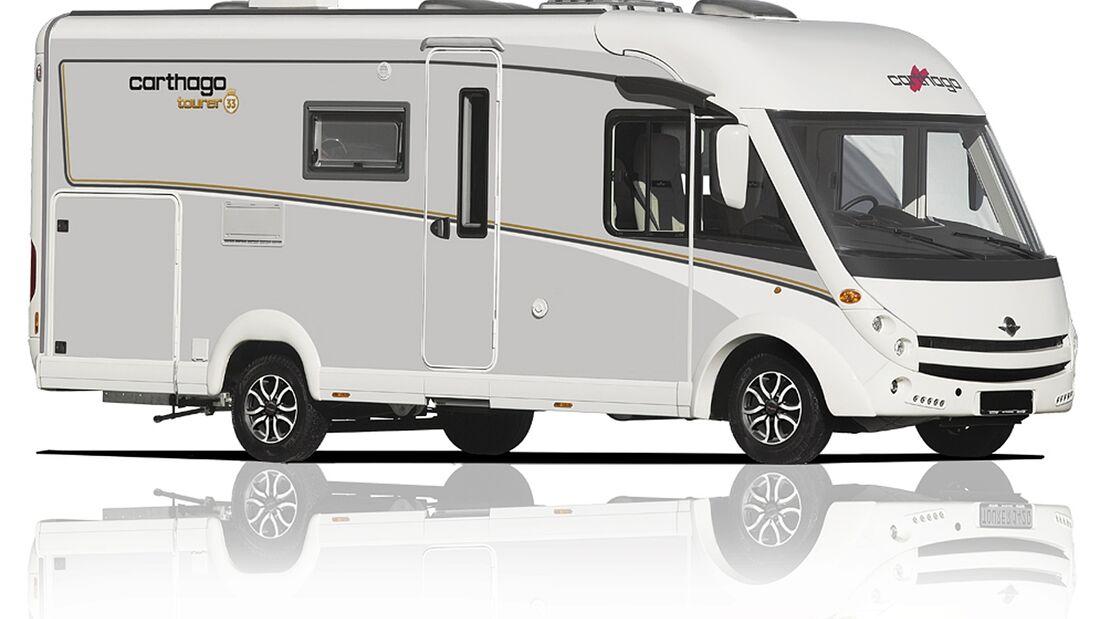 Carthago präsentiert auf der CMT die c-tourer l super-lightweight mit einem fahrbereiten Gewicht ab 2.835 Kilogramm.