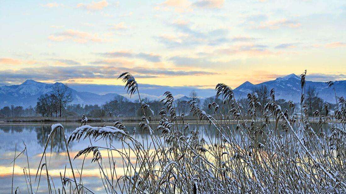 Chiemsee im Winter