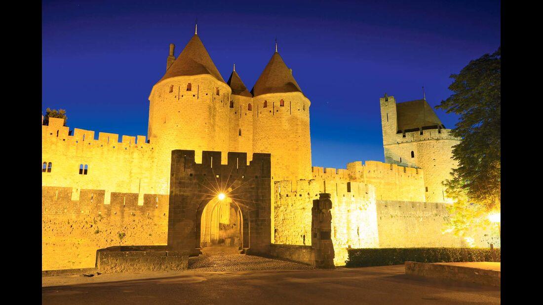 Cité von Carcassonne, hier die Porte Narbonnaise
