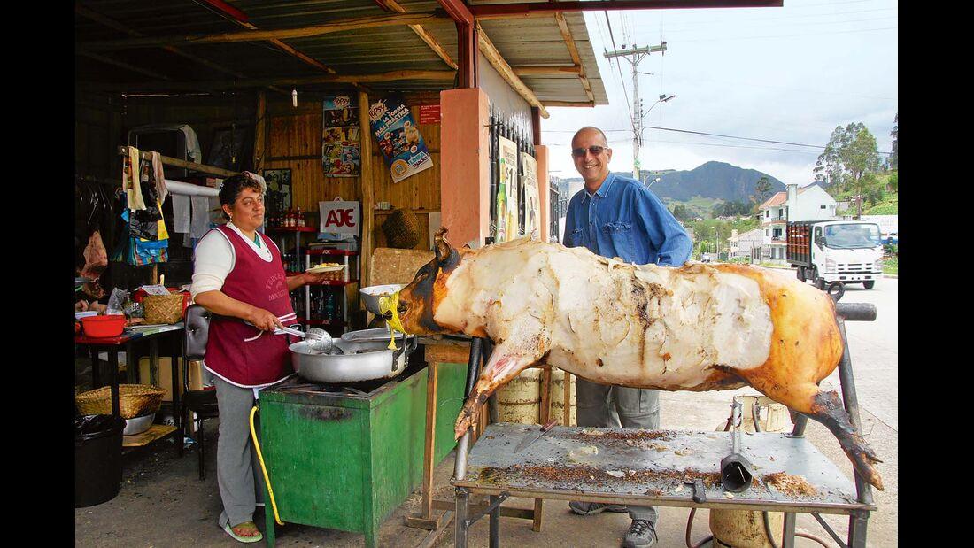 Cuenca, Ecuador: alternative Produktpräsentation im Restaurant.