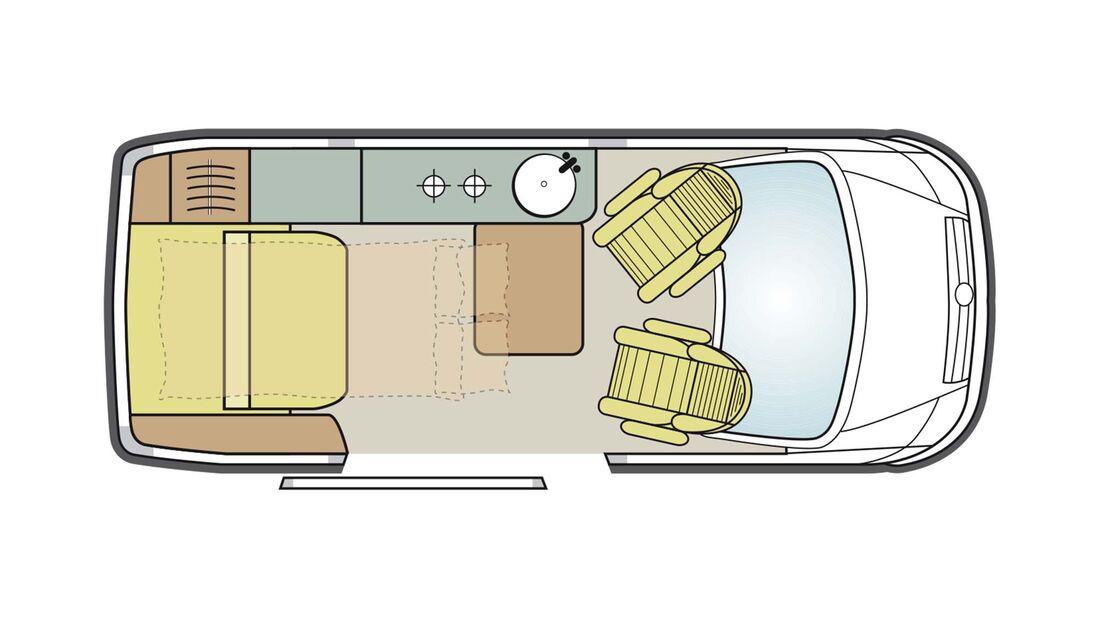Dachbett-Grundriss