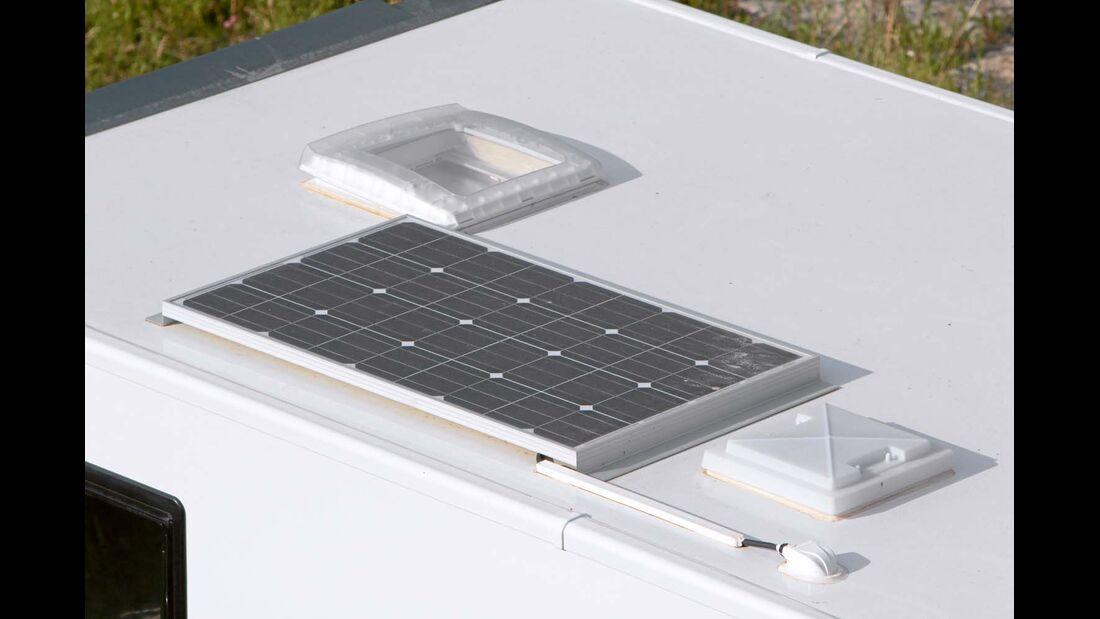 Das 120-Watt-Solarpanel ist in der Granduca-Baureihe Serie.
