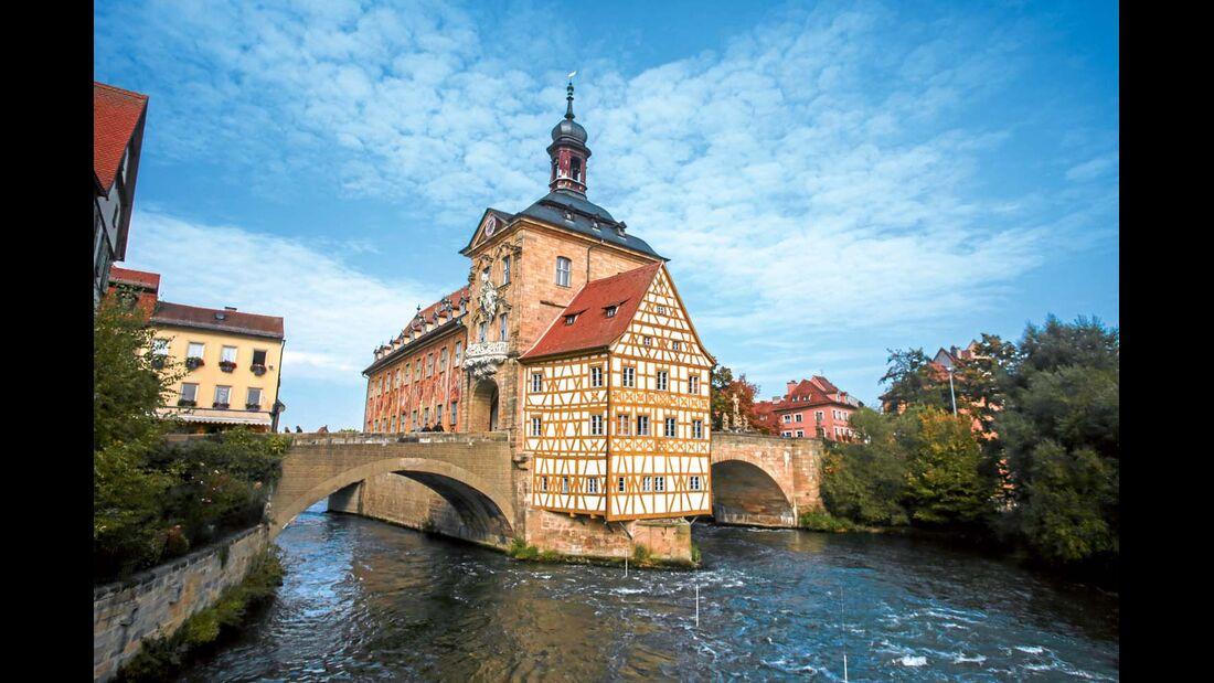 Das Alte Rathaus ist Wahrzeichen von Bamberg