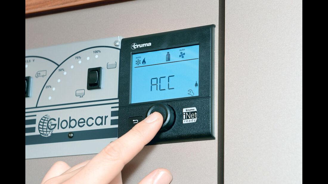 Das Bedienteil CP-Plus wurde für das iNet-System mit einer Klimaautomatik ausgestattet.
