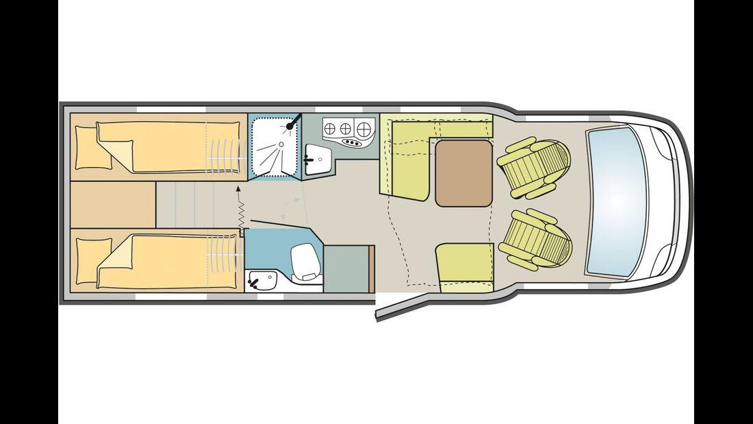 Das Einzelbetten-Modell mit viel Komfort.