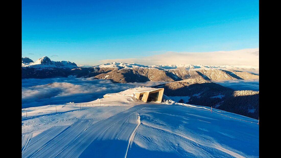 Das Messner Mountain Museum auf dem Kronplatz-Gipfel.