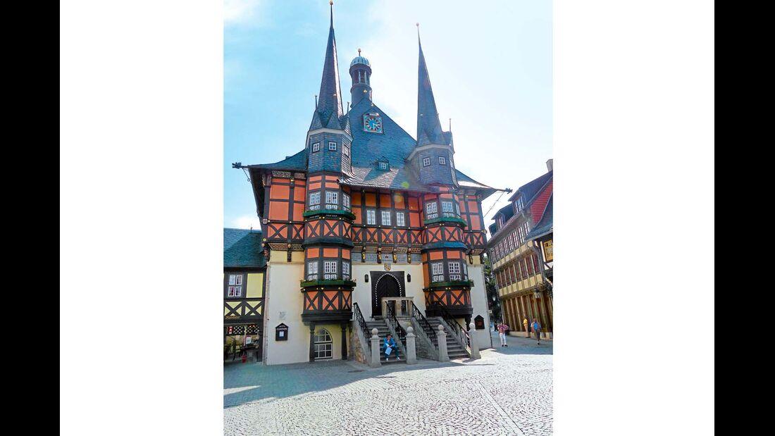Das Rathaus in Wernigerode.
