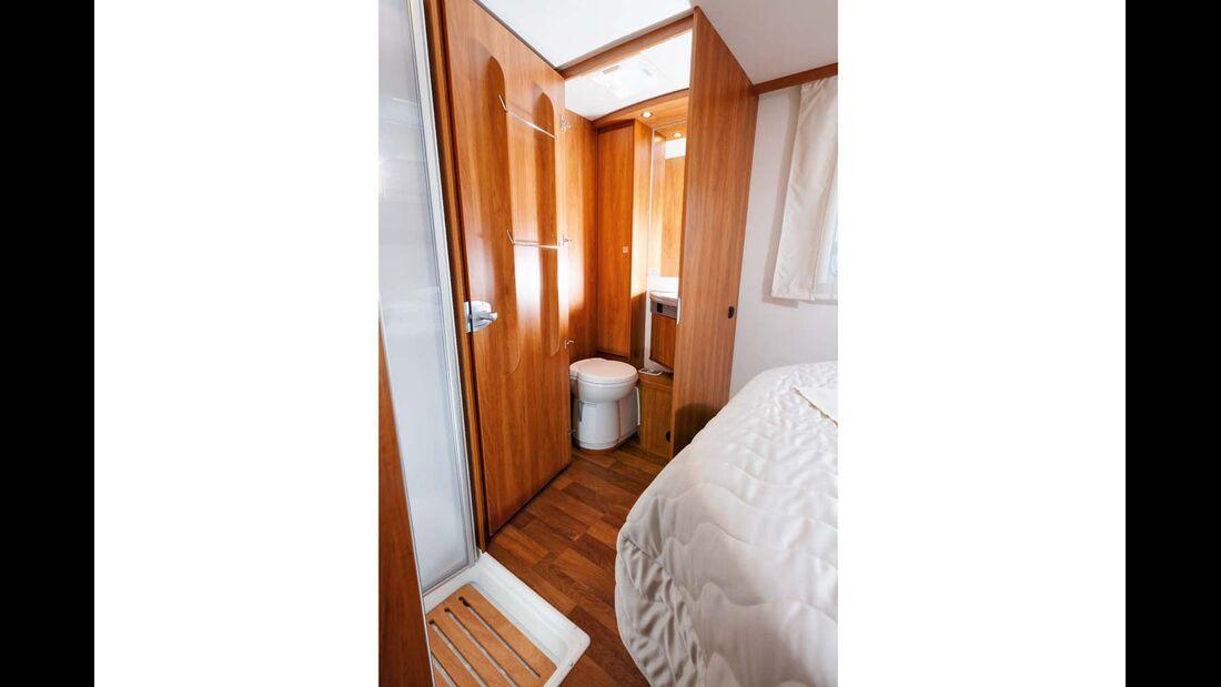 Das Raumbad im 7057 DBM ist sehr beliebt.