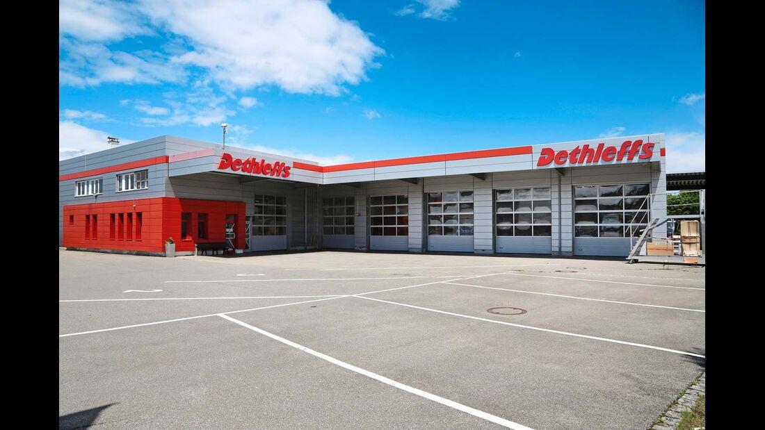 Das Service-Center von Dethleffs in Isny.
