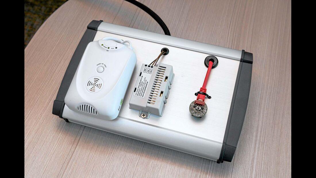 Das Sicherheitspaket aus Gasalarm und Bewegungsmeldern.
