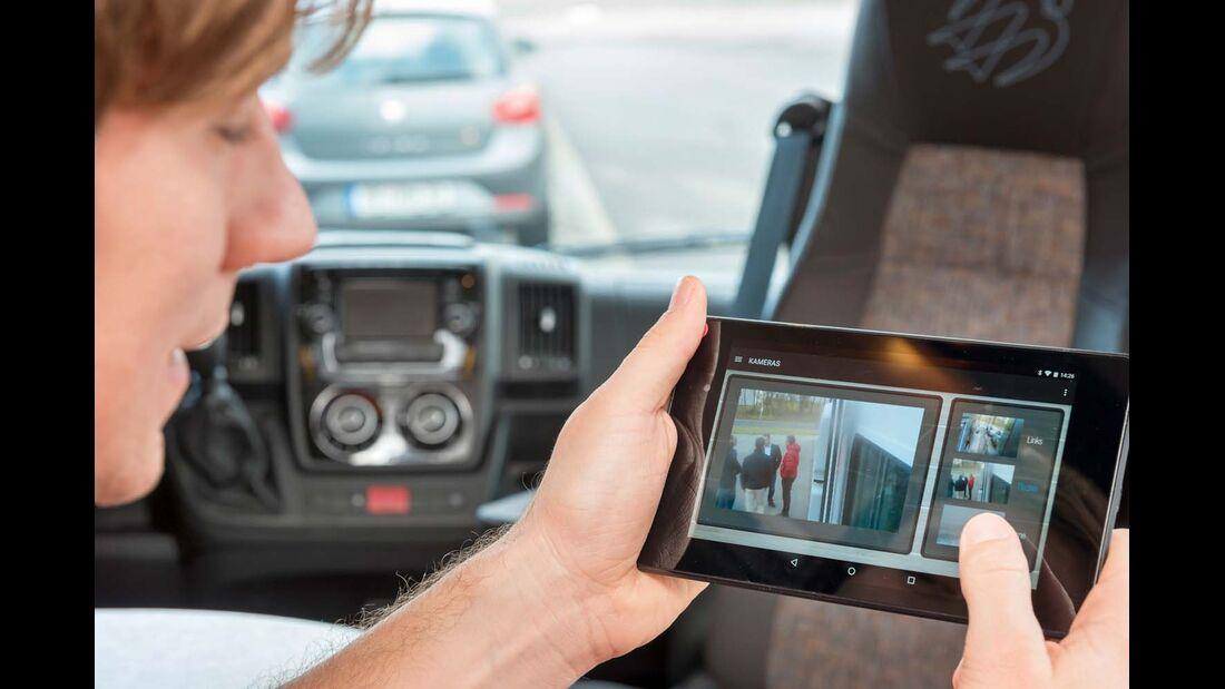 Das Tablet kann auch als Überwachungsbildschirm genutzt werden.