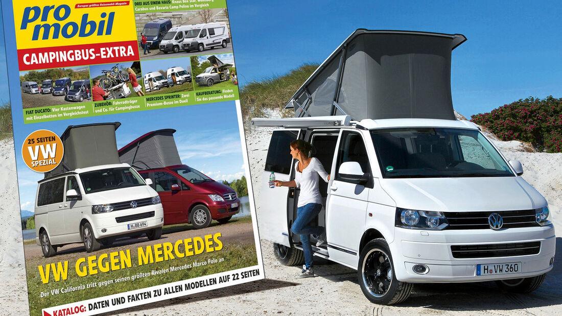 Das neue promobil Extra Campingbusse