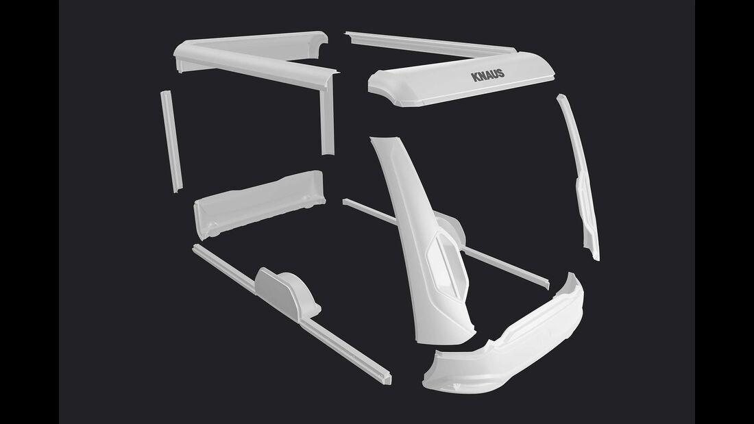 Das tragende Gerüst des Travelino besteht nur aus wenigen Formteilen. Die Technik spart viel Gewicht.