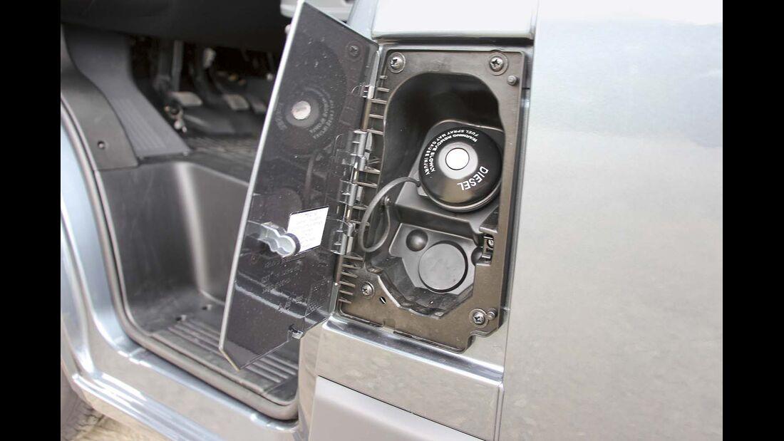 Der Dieseltank der meisten Reisemobile fasst standardmäßig rund 90 Liter
