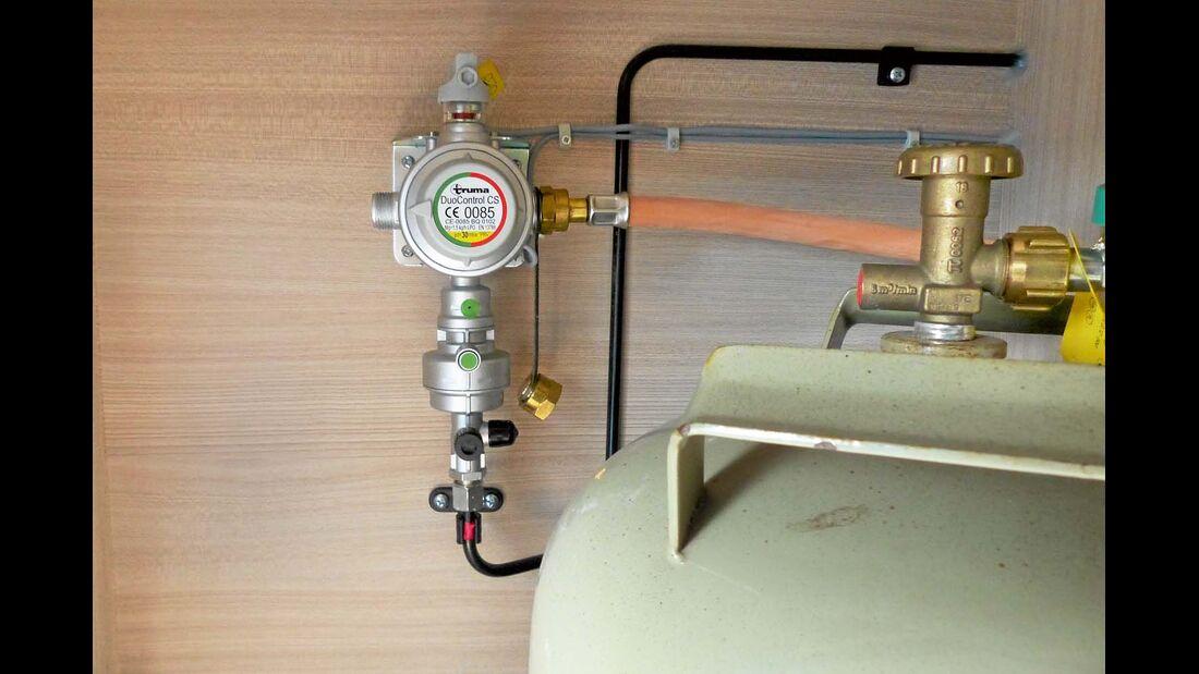 Der Filter wird einfach in die bestehende Gasversorgung eingebaut.