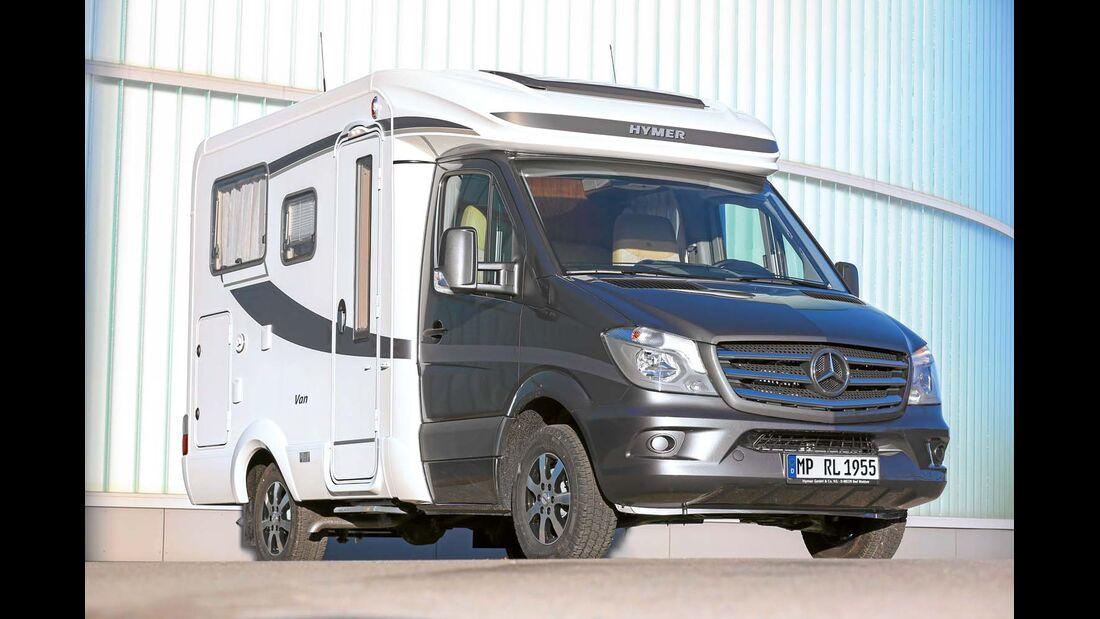 Der Hymer Van S steht auf der Basis des Mercedes Sprinter.
