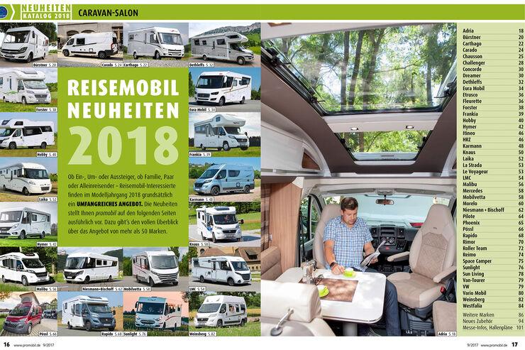 Der Katalog für den Caravan Salon 2017 zum download.