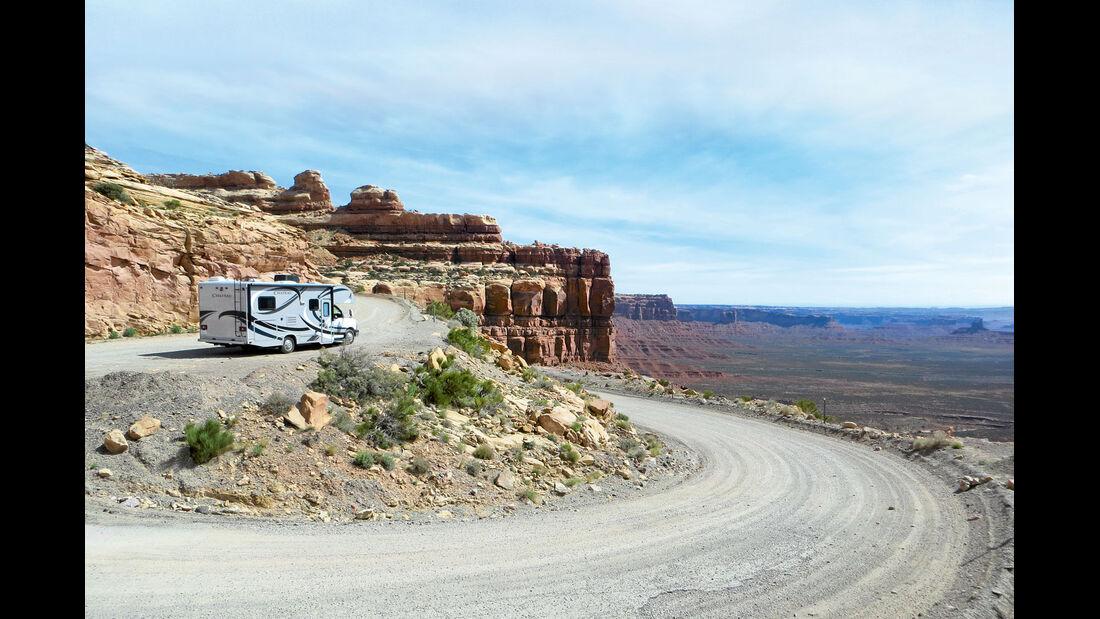 Der Moki Dugway ist eine spektakuläre Bergstrecke.