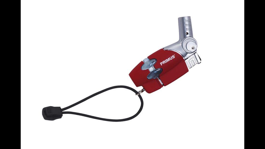 Der Primus Powerlighter (25 Euro) erzeugt eine 1300 Grad heiße Flamme, ähnlich eines Bunsenbrenners.