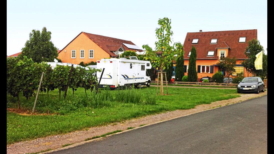 Der Stellplatz der Brennerei Göring im Obstgut.