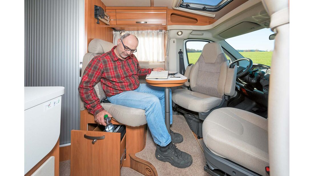 Der Van 374 ist für zwei Personen ausgelegt.