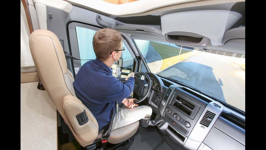 Der Van S zeigt wendiges Fahrverhalten.