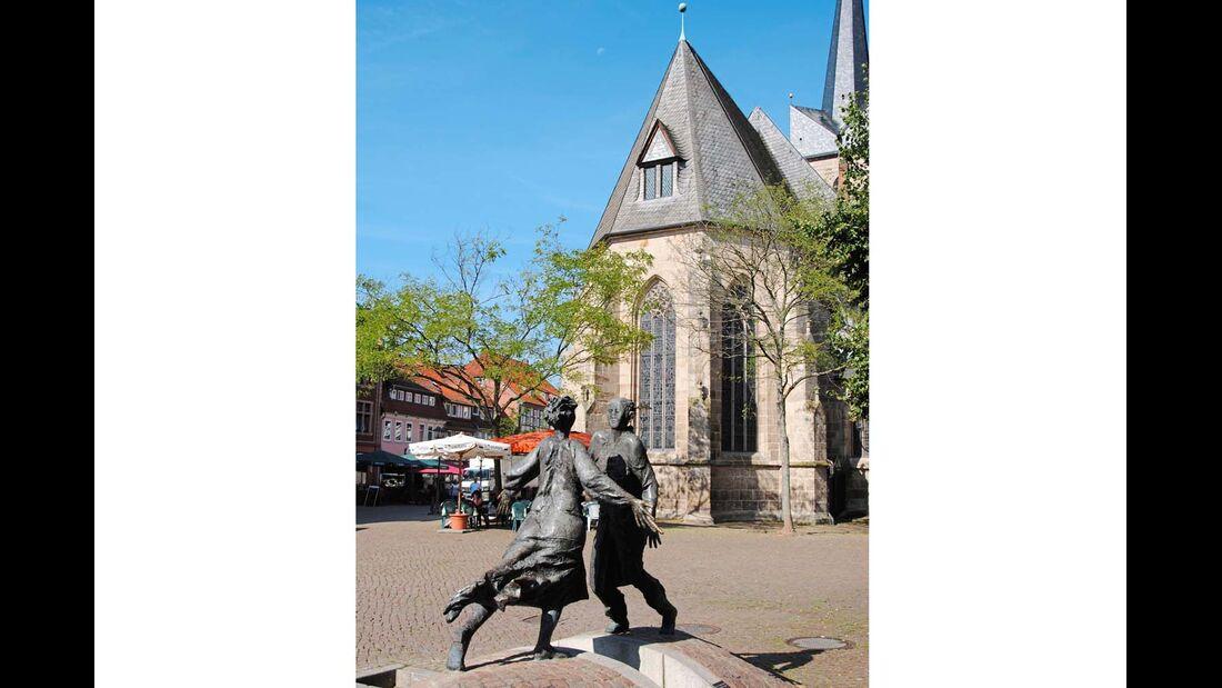 Der Wiedervereinigungsbrunnen in Duderstadt.