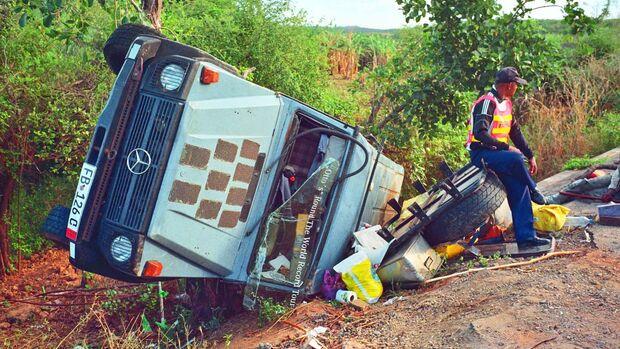 Der einzige Unfall der Reise passierte auf Madagaskar.