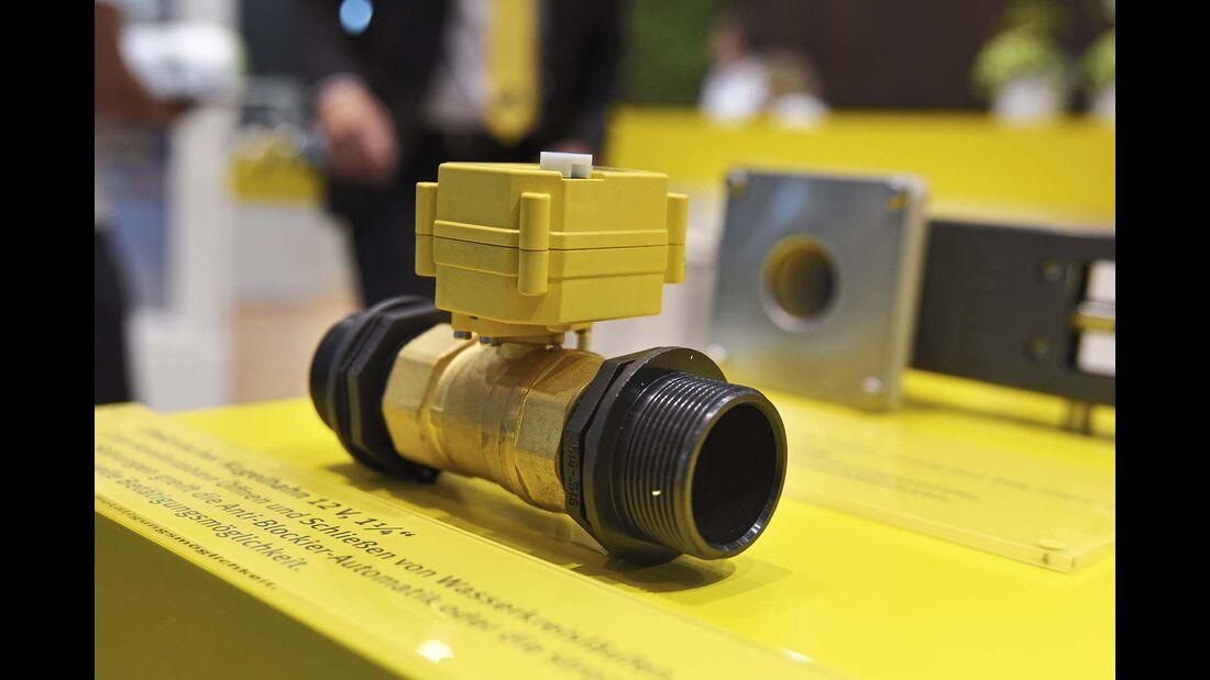 Der elektrische Kugelhahn soll das Überhitzen der Wasserpumpe verhindern