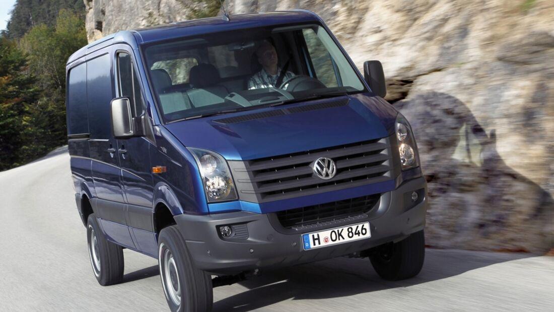Der neue Volkswagen Crafter geht jetzt als 4Motion mit Achleitner Allradantrieb auch ins Gelände.