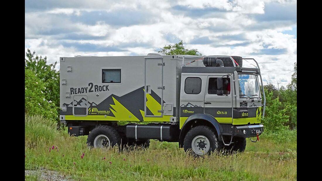 Der preisgünstige Einstieg in die 7,5-Tonnen-Klasse basiert auf einem Iveco 90-16 Fahrgestell.