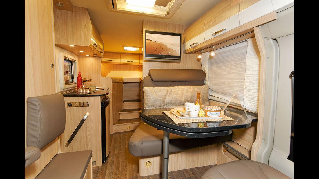 Der t 620 G (Foto) unterscheidet sich vom t 590 G nur durch die Einzelbetten.