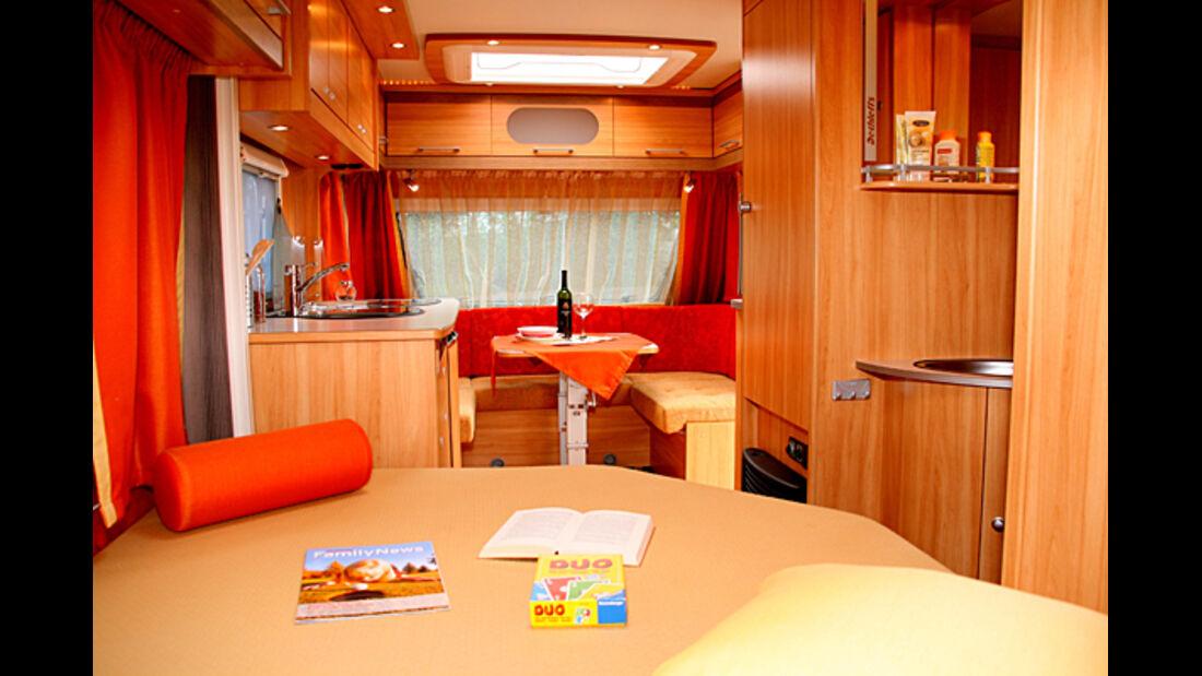 Dethleffs Camper Beduine Globetrotter XXL Globeline Bilder Neu 2008 2009 Neuheiten Wohnmobile Reisemobile promobil CARAVANING Wohnwagen Caravans